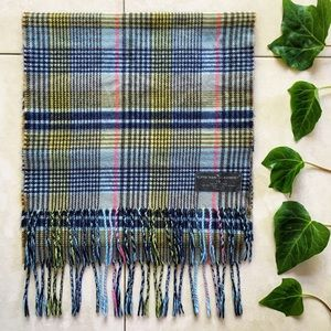 D&Y Softer Than Cashmere Multi Plaid Fringe Scarf